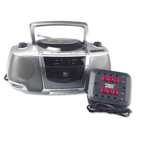 AmpliVox SL1014 6 Station Listening Center with Boombox SL1014