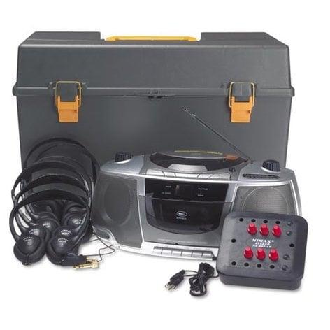 AmpliVox SL1070 6 Station Personal Listening Center with Headphones SL1070