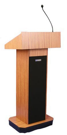 AmpliVox W505 Executive Column Lectern without Sound System W505