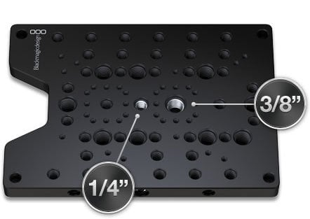 Blackmagic Design HyperDeck Shuttle Mounting Plate Camera and Tripod Mounting Plate for Hyperdeck Shuttle Portable SSD Recorder HYPERDECK-SHUTTLE-MP