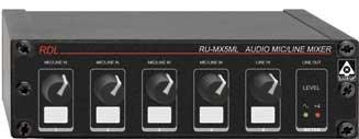 Radio Design Labs RU-MX5ML 5-Channel Microphone/Line Audio Mixer with Phantom Power RUMX5ML