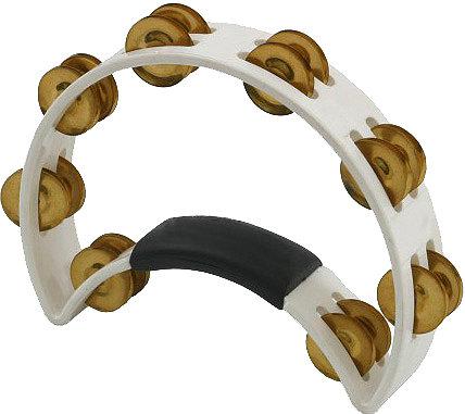 Rhythm Tech RT1021 White Tambourine with Brass Jingles RT1021