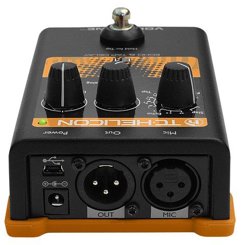 TC Helicon VOICETONE-E1 Vocal Pedal, Echo and Delay VOICETONE-E1