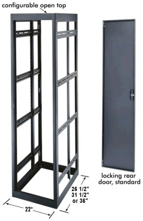 "Middle Atlantic Products MRK-4442LRD MRK Series 19"" Gangable Enclosures, 44 space MRK-4442LRD"