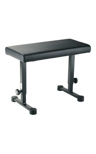 K&M Stands 14085 Leather-Covered Keyboard Bench in Black 14085