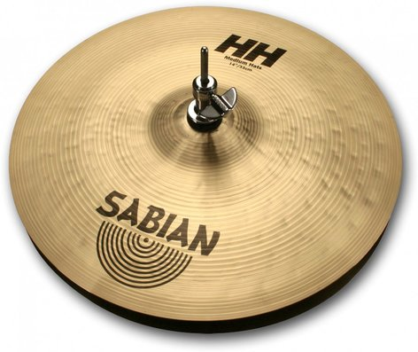 "Sabian 11402 14"" HH Hand Hammered Medium Hi-Hats in Natural Finish 11402"