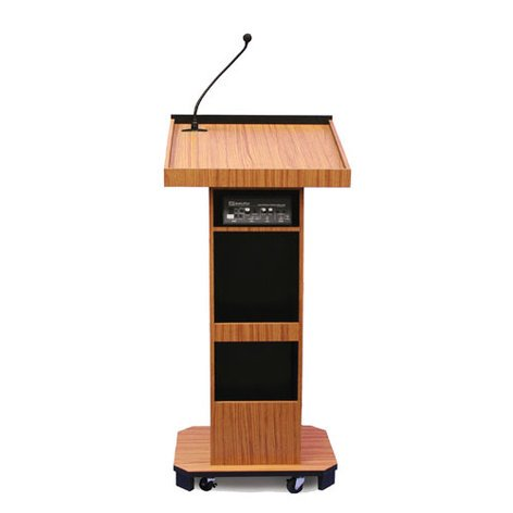 AmpliVox SW505 Wireless Executive Sound Column Lectern with Lapel Microphone Transmitter SW505-LAPEL