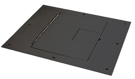 FSR, Inc FL500P-BLK-C Floor Box Cover with Hinged Door FL500P-BLK-C