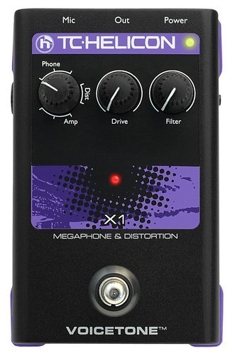 TC Helicon VOICETONE-X1 Pedal, Megaphone w/Distortion VOICETONE-X1