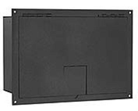 FSR, Inc FL-1500-BLK Floor Box with Hinged Door, Black FL-1500-BLK