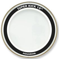 "Aquarian Drumheads SK10-26 26"" Super-Kick 10 Two-Ply Clear Bass Drum Head SK10-26"