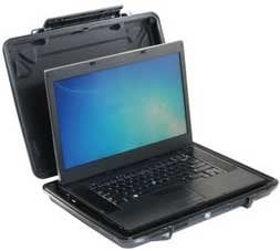 """Pelican Cases 1095CC Black HardBack Case with Laptop Liner, for Computers up to 15"""" PC1095CC"""