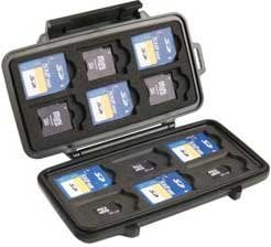 Pelican Cases PC0915 Black Memory Card Case for up to 12 SD, 6 Mini SD, & 6 Micro SD Cards PC0915