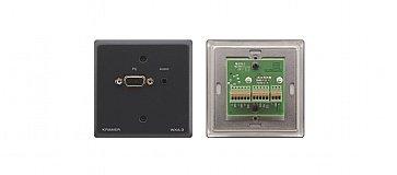 Kramer WXA-3 Passive Wall Plate - 15-pin HD & 3.5mm Stereo Audio WXA-3