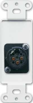 Radio Design Labs DS-XLR3F Solder-Type 3-Pin XLR-F Jack on Decora Wall Plate DS-XLR3F