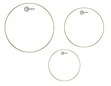 "Aquarian Drumheads CC-B 3-Pack of Classic Clear Tom Tom Drumheads: 12"",13"",16"" CCB"
