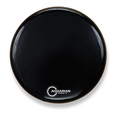 "Aquarian Drumheads FR24BK 24"" Bass Drum Head in Black FR24BK"