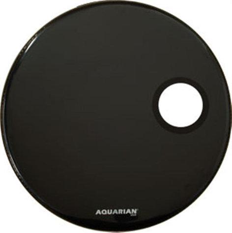 "Aquarian Drumheads RSM20BK 20"" Regulator Ported Bass Resonant Drum Head in Black RSM20BK"