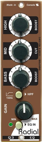 Radial Engineering Q3 500 Series 3-Band Induction Coil Equalizer Q3-RADIAL