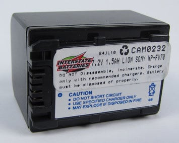 Interstate Battery CAM0232 Replacement Battery for Sony Camcorders CAM0232
