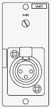 TOA U01F 900 Series Module with Female XLR Unbalanced Line Input U01F