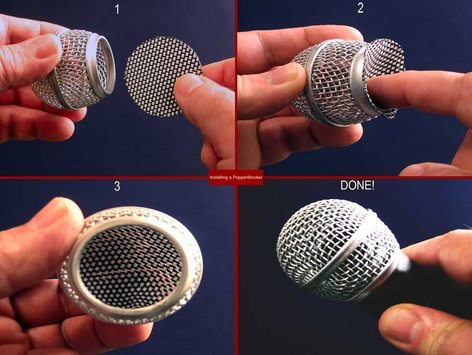 PopperBlocker Popper Blocker Pop Filter Insert for Ball-Style Microphones POPPER-BLOCKER