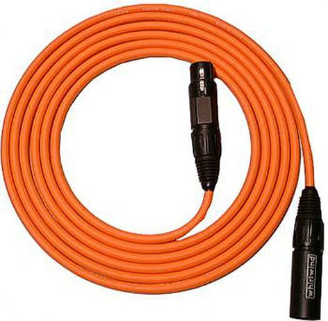 Whirlwind MKQ30-ORANGE Mic Cable, Canare Starquad Low-Z, 30ft MKQ30-ORANGE