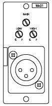 TOA M01M Male XLR Microphone Input Module for 900 Series M01M