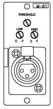 TOA M61F Mic Preamp with Compressor, Female XLR M61F
