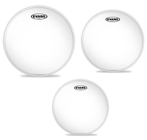 Evans Hydraulic Glass 12/13/16 Standard Drum Head Pack ETP-HYDGL-S