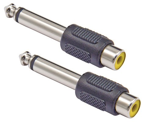 "Cable Up by Vu RF-PM2-ADPTR RCA Female to 1/4"" TS Male Adapter - 2-Pack RF-PM2-ADPTR"