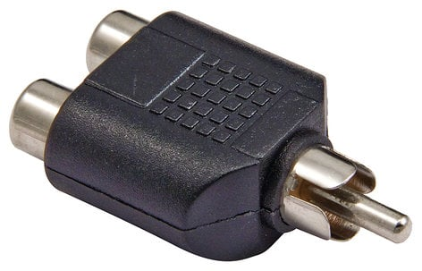 Cable Up by Vu RFD-RM-ADPTR Dual RCA Female to RCA Male Adapter RFD-RM-ADPTR
