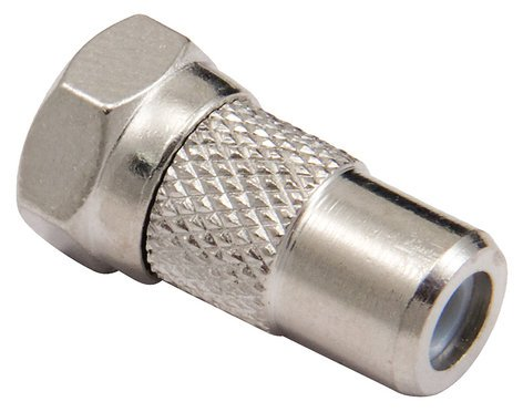 Cable Up by Vu RF-FC-ADPTR RCA Female to Male F Connector Adapter RF-FC-ADPTR