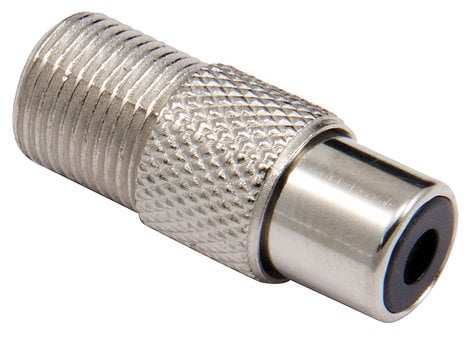 Cable Up by Vu RF-FCF-ADPTR RCA Female to F Connector Female Adapter RF-FCF-ADPTR