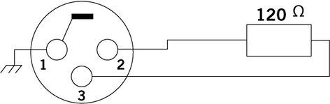 Cable Up by Vu DMX-120OHM-XM3 3 Pin Male XLR DMX Terminator DMX-120OHM-XM3
