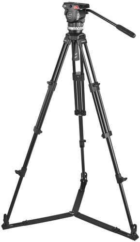 Sachtler System Ace M GS 1002 Tripod System for Smaller Cameras with SP75 Ground-Level Spreader 1002