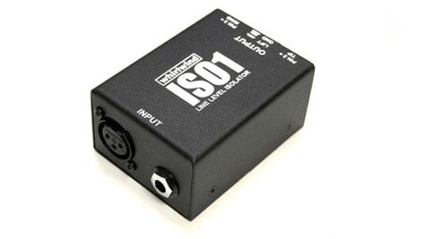 """Whirlwind ISO1 Line Isolator, 1/4""""TRS and XLR ISO1"""