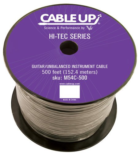 Cable Up by Vu M54C 500 ft Spool of M54C Guitar/Instrument Cable M54C-500