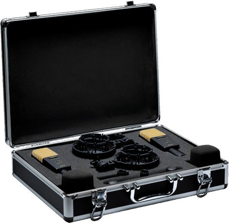 AKG C 414 XLII Stereo Matched Stereo Pair of Multi-Pattern Condenser Microphones with Case and Accessories C414/XLII-STEREO