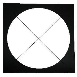 "Altman 154/160-CF Color Frame, 15 3/4"" x 16"", Black 154/160-CF"