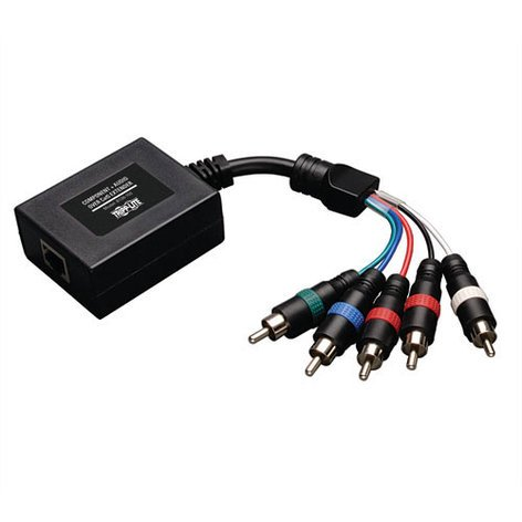 Tripp Lite B136-100 Cat5 Extender Receiver for Component Video with Stereo Audio B136-100
