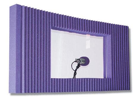 "Auralex MAXWINKITCHA 20"" x 48"" MAX-Wall Panel with Window in Charcoal Gray MAXWINKITCHA"