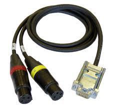 Cable Techniques CT-DE15/2 Digital Dual Mic Cable for Sound Devices 788T CT-DE15/2