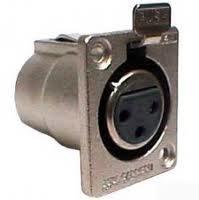 Canare XLR3-31F77 XLR F to Solder Pin, Classic A/V Flush Mount Jack XLR3-31F77