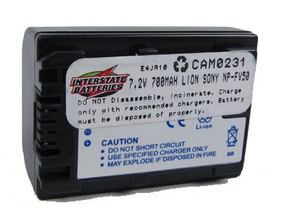 Interstate Battery CAM0231 Battery, for Sony HDRXR160 / HDRCX500PJ CAM0231
