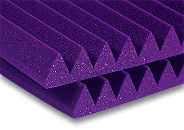 """Auralex 2SF22CHA Foam, 2"""", StudioFoam, Wedge, 2 x 2, Charcoal (Purple shown) 2SF22CHA"""