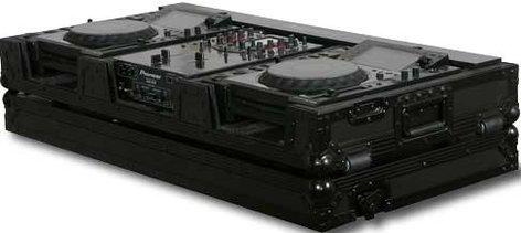 "Odyssey FFX10CDJWBL Flight FX Series DJ Coffin with Color Changing Panel & Wheels, for 2 CD/Media Players & a 10"" W Mixer FFX10CDJWBL"