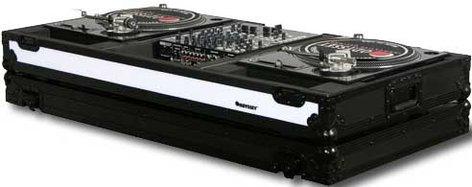 "Odyssey FFXBM12WBL Flight FX Series DJ Coffin with Wheels, for 2 Turntables in ""Battle Mode"" & a 12"" W Mixer FFXBM12WBL"