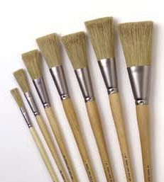 """Rosco Laboratories 056108KIT Set of 8 Iddings Brushes, with 1/4""""-3"""" Fitches 056108KIT"""