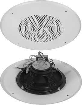 "Quam UL-5 70.7V Fire-Protective Signaling Device (Round 8"" Ceiling Speaker, 70.7V Transformer, ERD8 Back Box) UL-5"